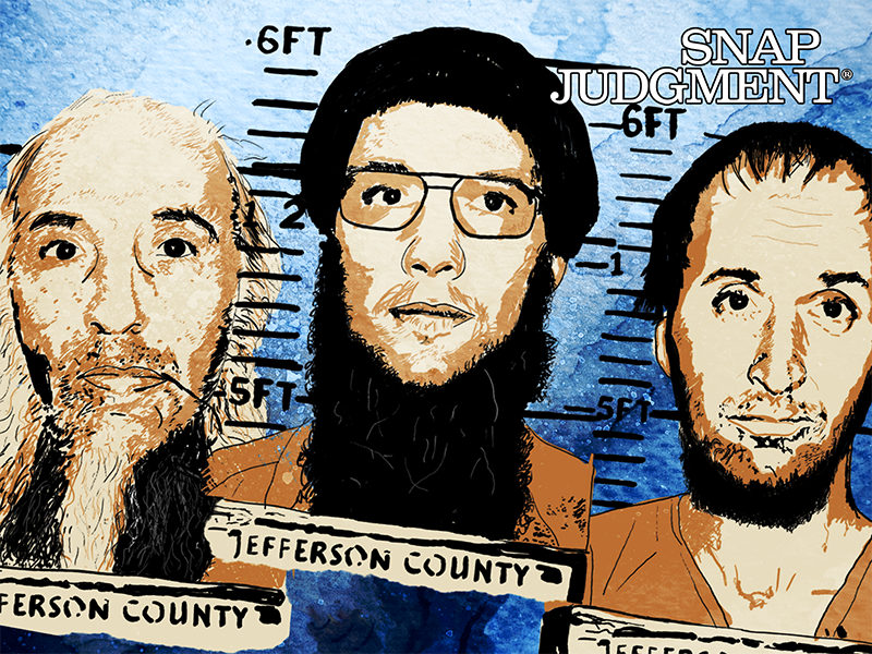 Three men's mug shots.